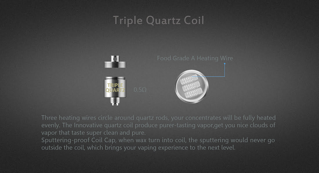 Oracle Dab Pen For Wax - Triple Quartz Coil