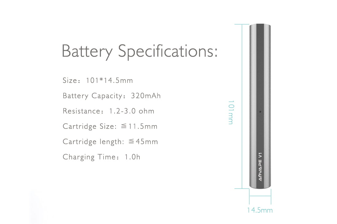 V1 Dab Pen Battery