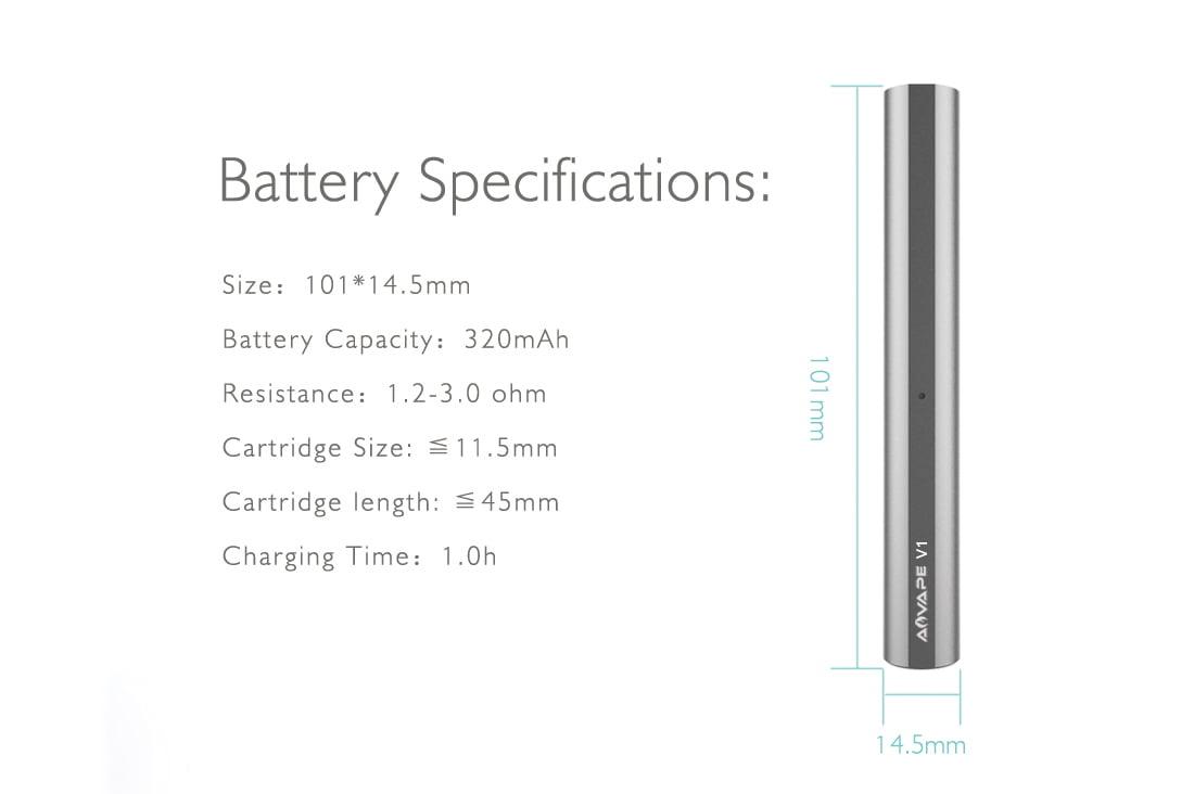 V1 Dab Pen Battery
