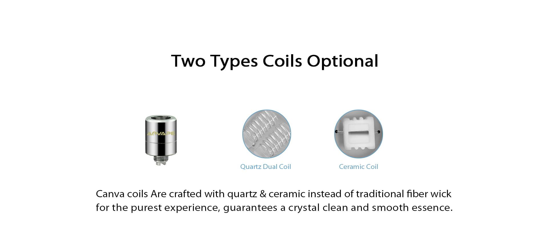 Canva Dual Quartz & Ceramic Coil