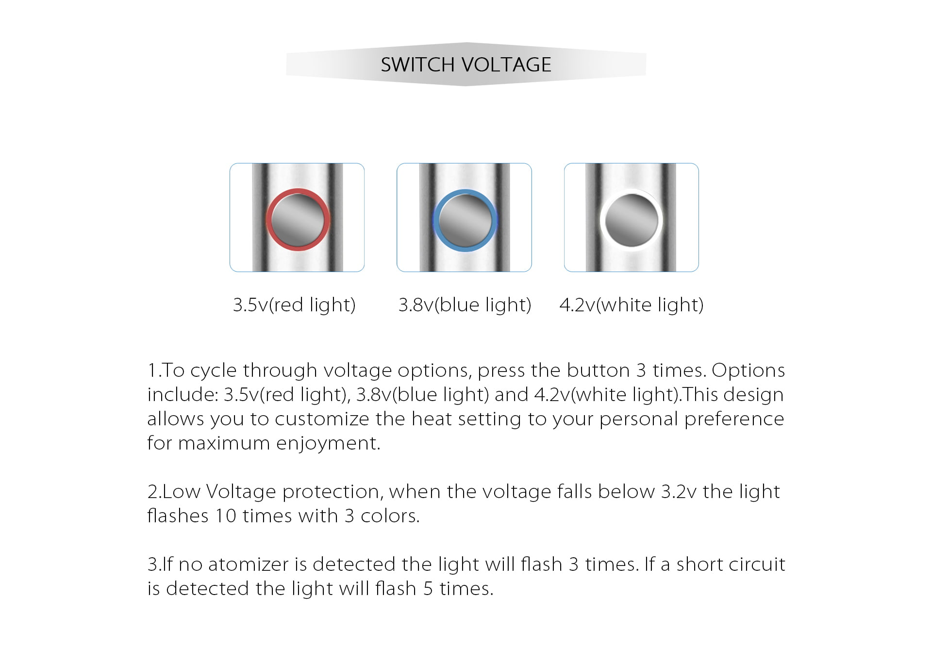 Como Switch Voltage Battery