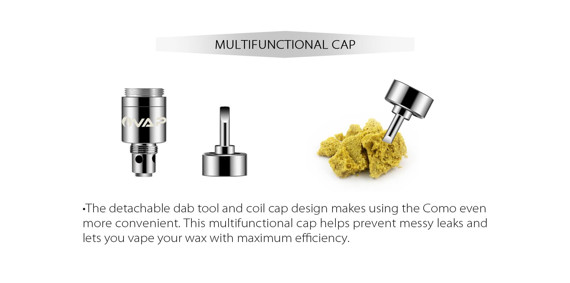 Como multifunctional coil cap