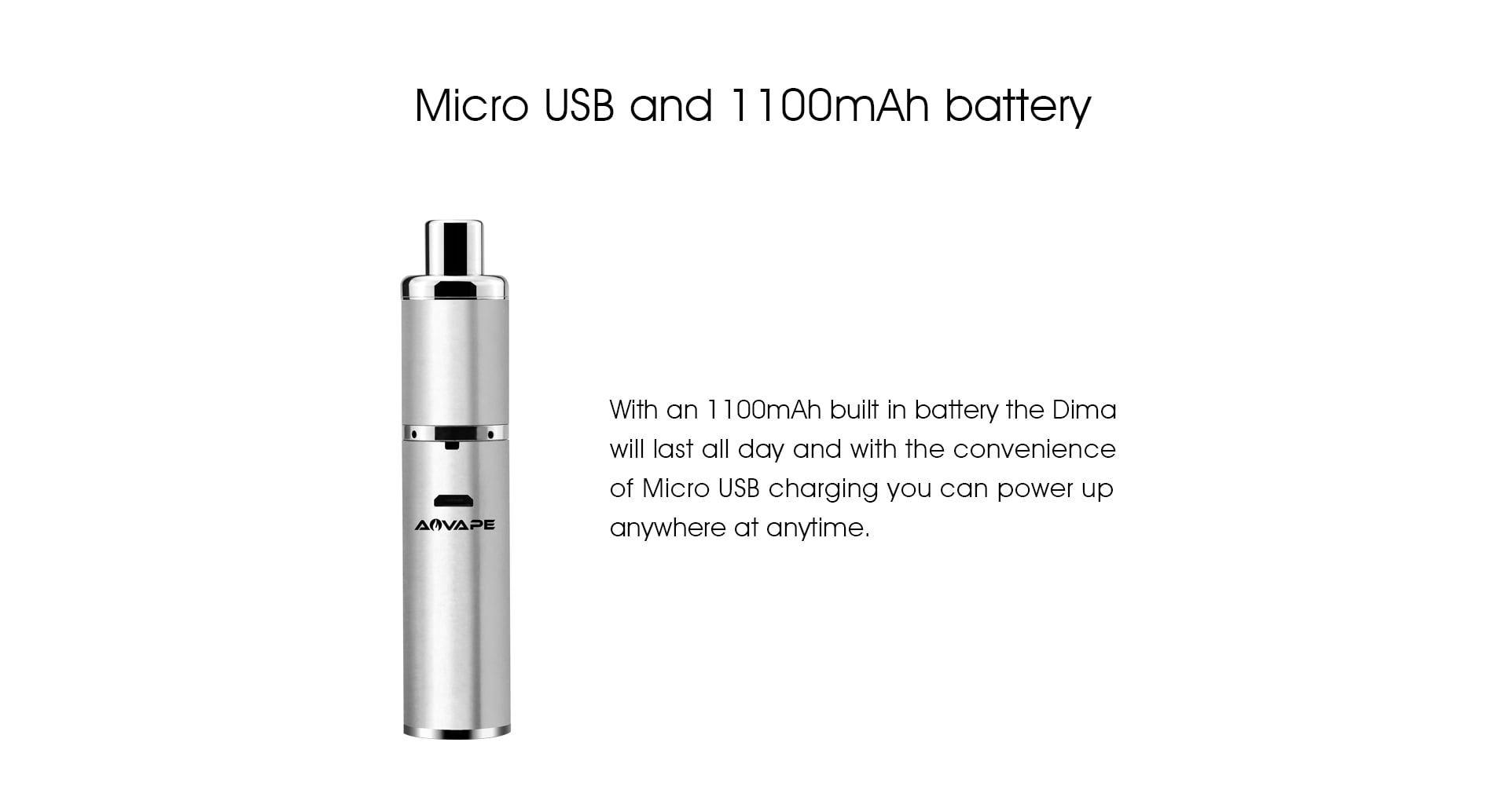 Dima Wax Pen 1100mah battery