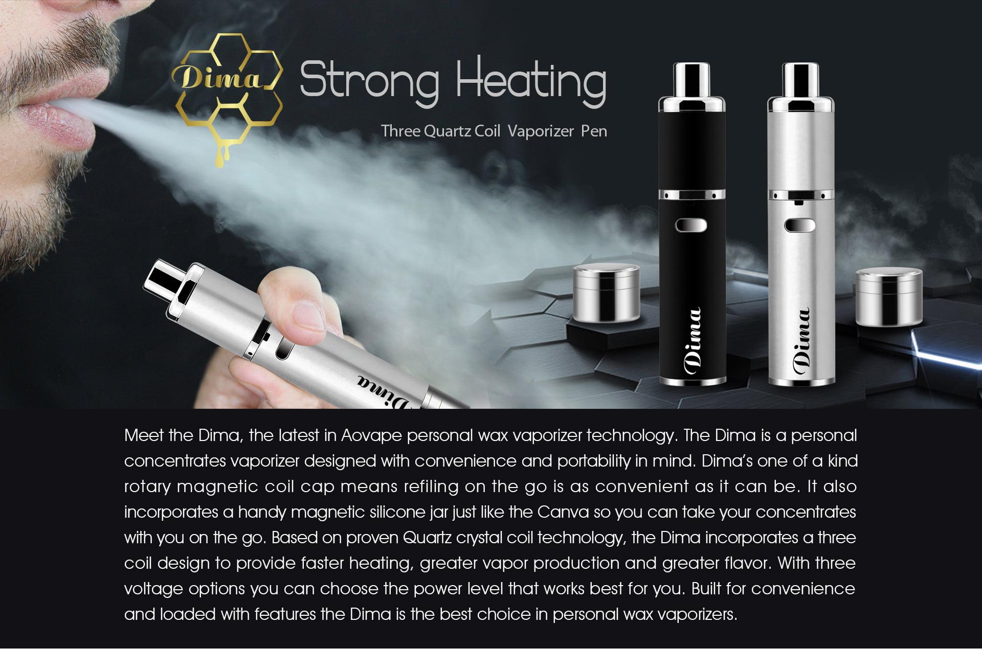 Dima triple quartz coil vaporizer pen